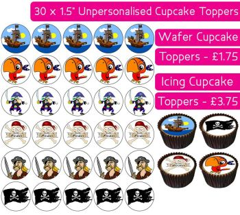 Pirates - 30 Cupcake Toppers