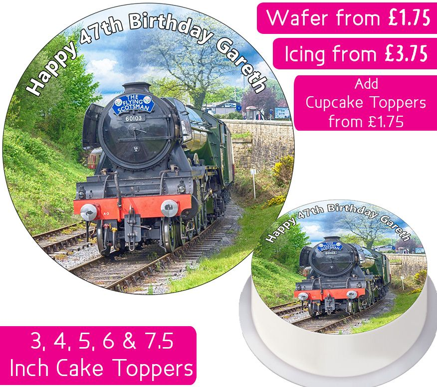 Steam Train Personalised Cake Topper