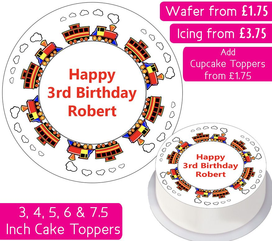 Toy Train Personalised Cake Topper