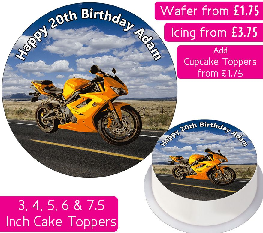 Motorbike Personalised Cake Topper