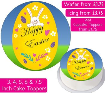 Easter Egg Personalised Cake Topper