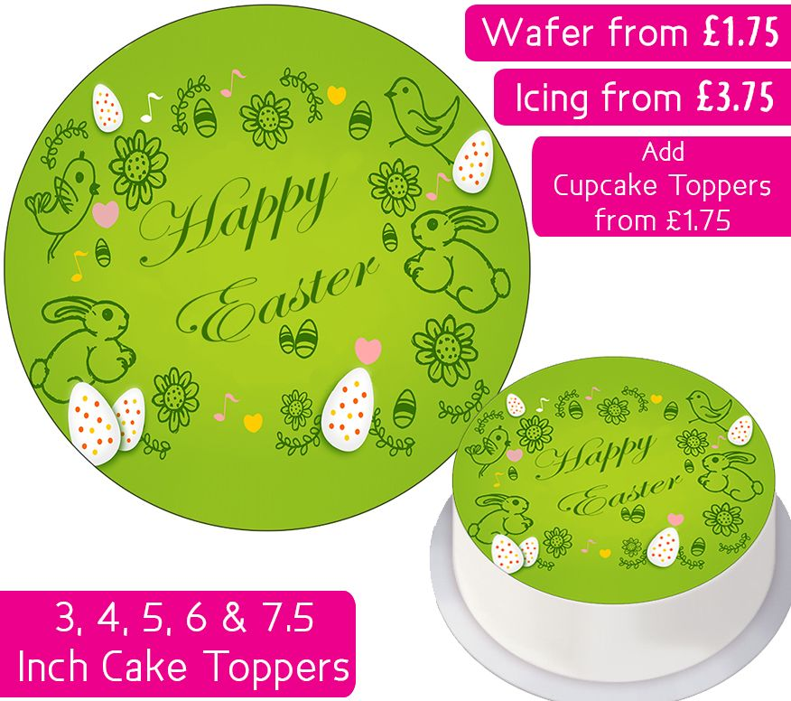 Easter Bunnies Personalised Cake Topper