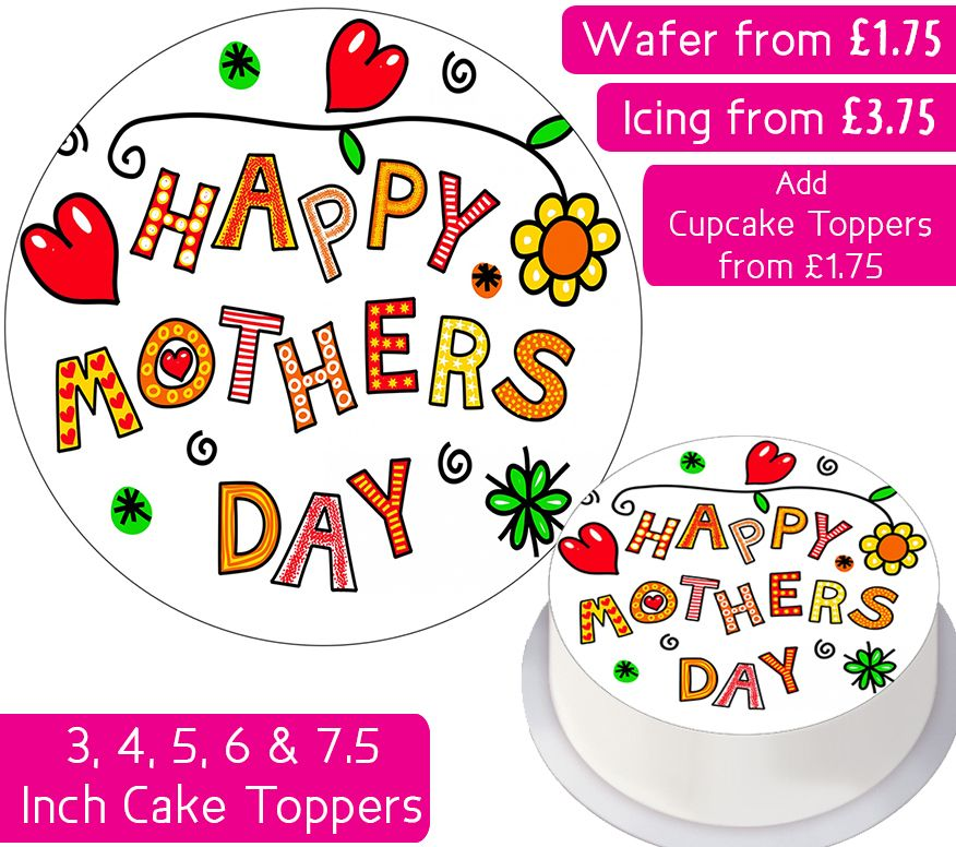 Mother's Day Personalised Cake Topper