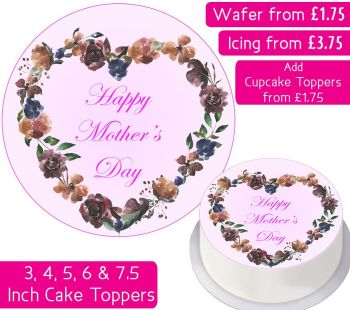Mother's Day Flower Personalised Cake Topper