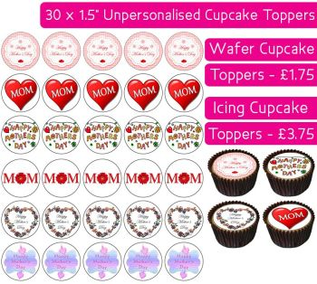 Mother's Day - 30 Cupcake Toppers