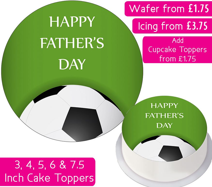 Father's Day Football Personalised Cake Topper