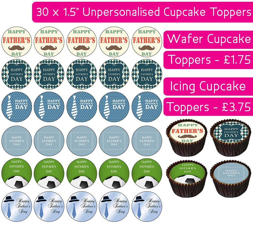 Father's Day - 30 Cupcake Toppers