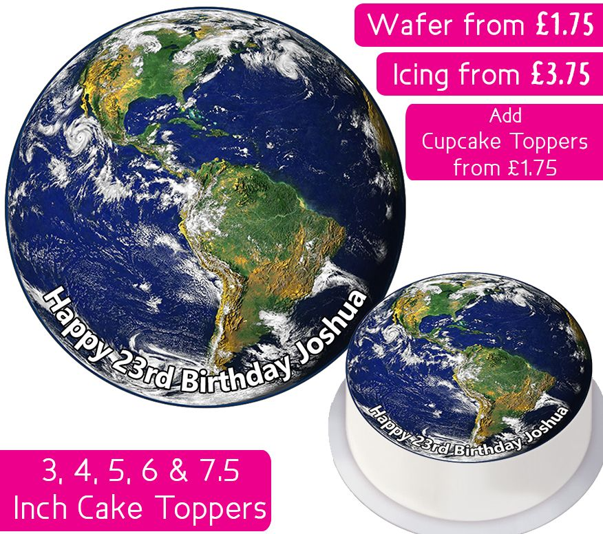 Earth Personalised Cake Topper