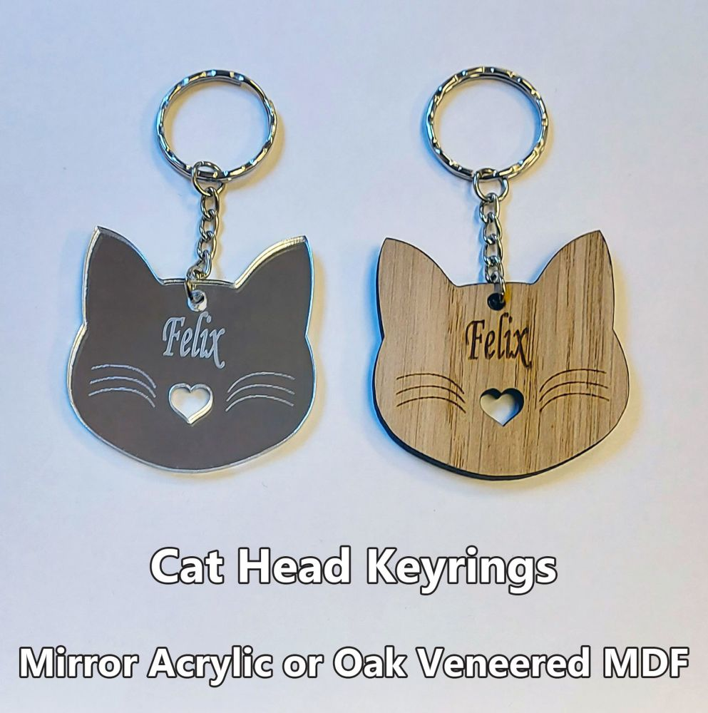 Cat Head, 1 x Keyring