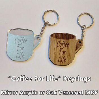 Coffee For Life, 1 x Keyring