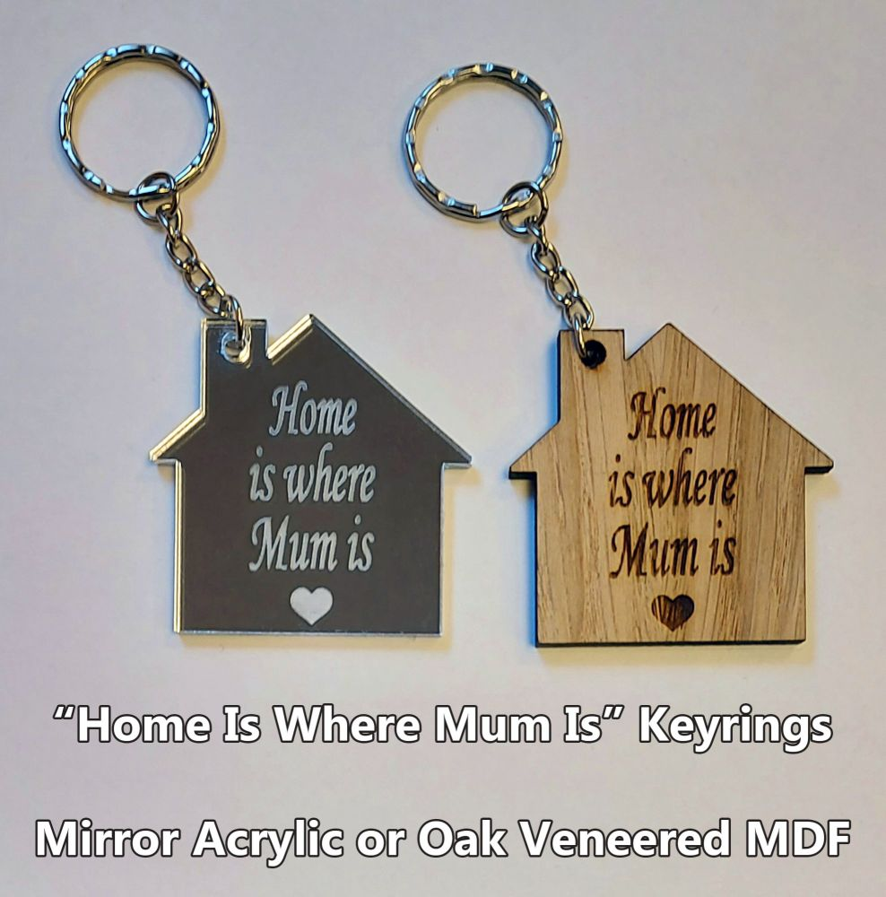 Home Is Where Mum Is, 1 x Keyring