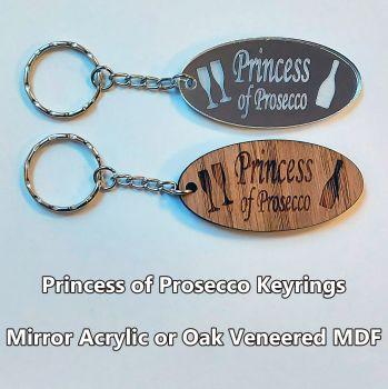 Princess of Prosecco, 1 x Keyring