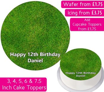 Grass Personalised Cake Topper
