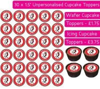 Bristol City Football - 30 Cupcake Toppers