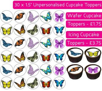 Butterfly - 30 Cupcake Toppers