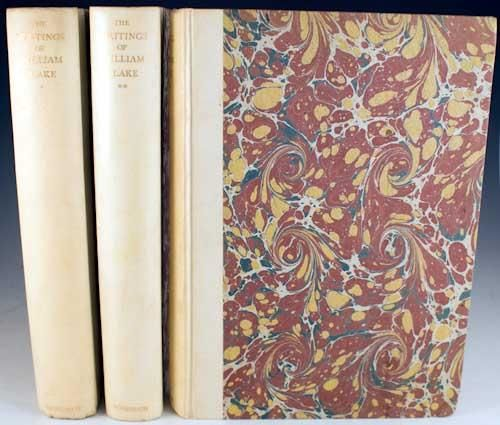 The Writings Of William Blake, 3 Volumes; Edited by Geoffrey Keynes, 1924-1