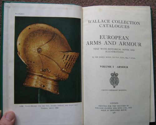 European Arms And Armour; Wallace Collection Catalogues, 2 Volumes, 1962.