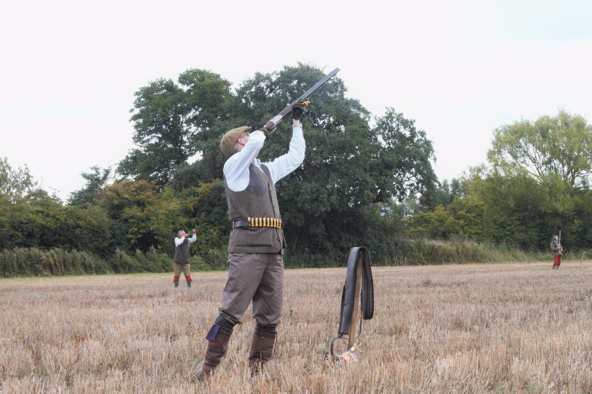 Tim, from our London Syndicate, shooting driven partridge.