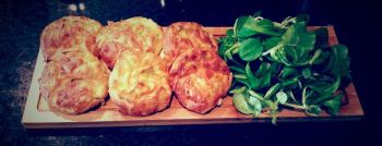 cheese and leek muffin