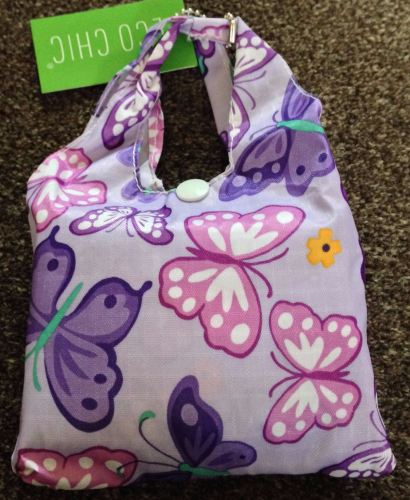 FOLD AWAY ECO SHOPPER LILAC BUTTERFLY DESIGN