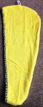 yellow with black animal print