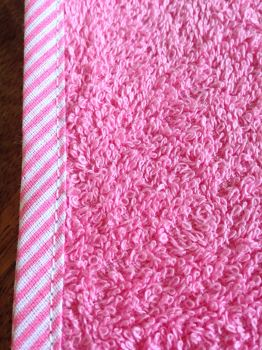 pink with pink stripe edgeclose up