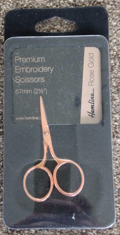 ROSE GOLD SCISSORS Premium Embroidery Scissors