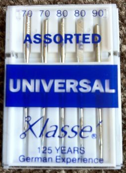 KLASSE SEWING MACHINE NEEDLES - UNIVERSAL ASSORTED