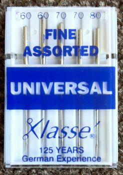 KLASSE SEWING MACHINE NEEDLES - FINE ASSORTED