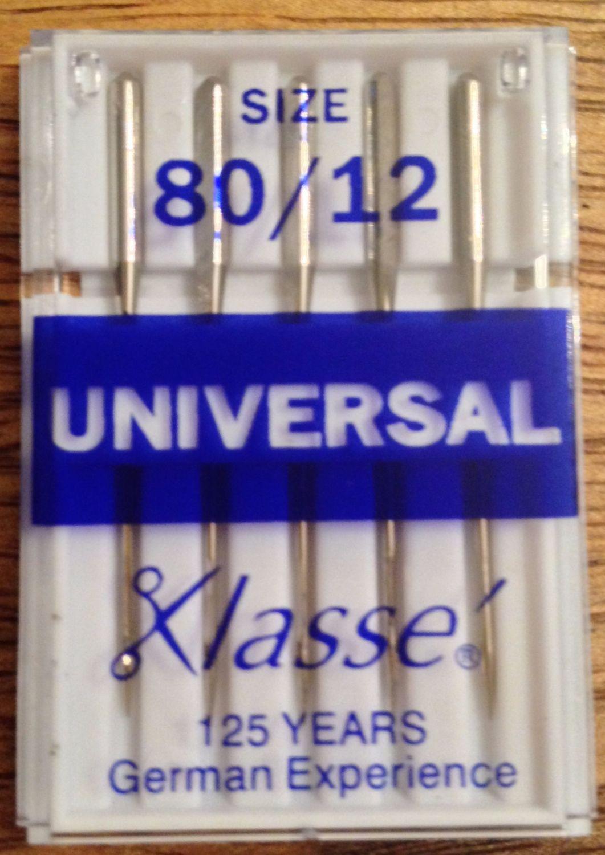 KLASSE SEWING MACHINE NEEDLES - 80/12