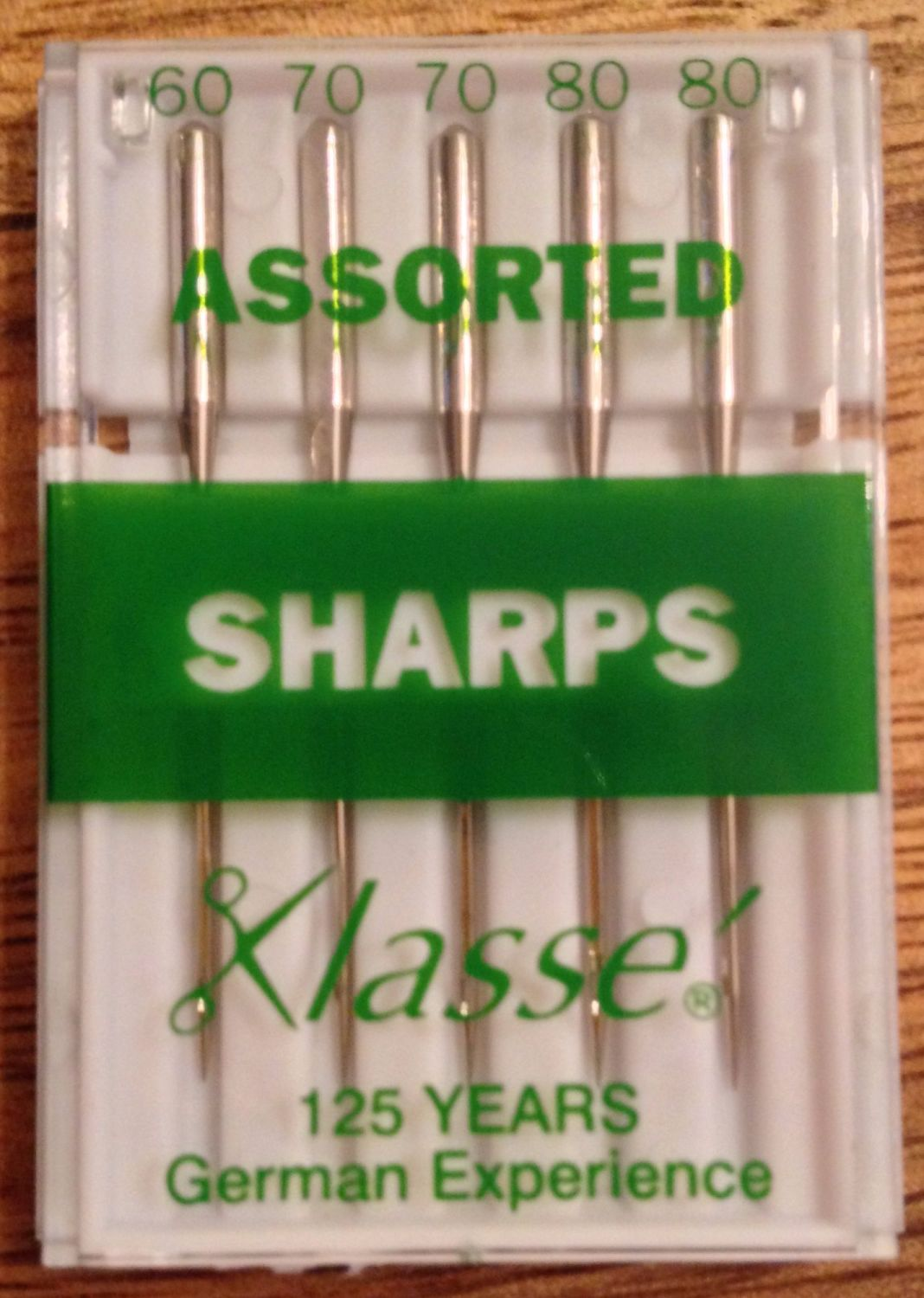 KLASSE SEWING MACHINE NEEDLES - SHARPS ASSORTED