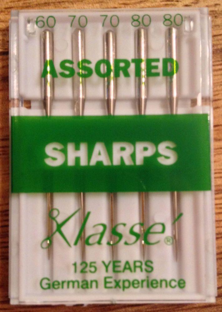 KLASSE SEWING MACHINE NEEDLES - SHARPS ASSORTED