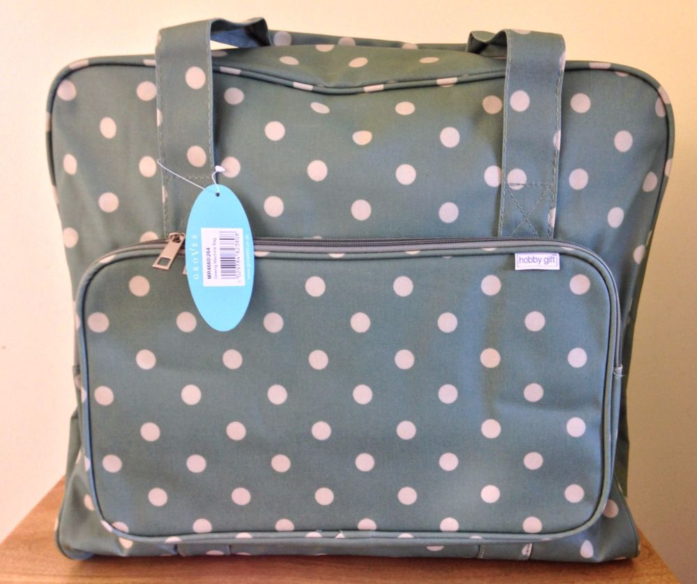 SEWING MACHINE CARRY BAG Charcoal Spot Design