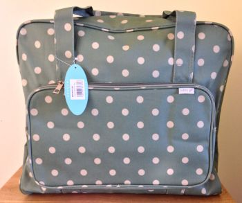 SEWING MACHINE CARRY BAG Moss Green Spot Design