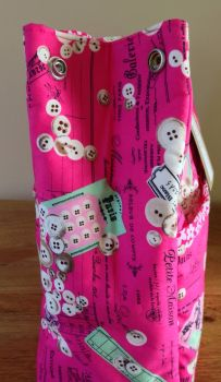 PINK BUTTONS DAISY BAG SIDE POPPERS