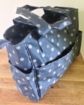 charcoal craft bag side view
