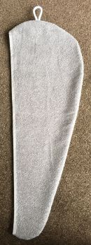 TURBIE TOWEL HAIR WRAP GREY