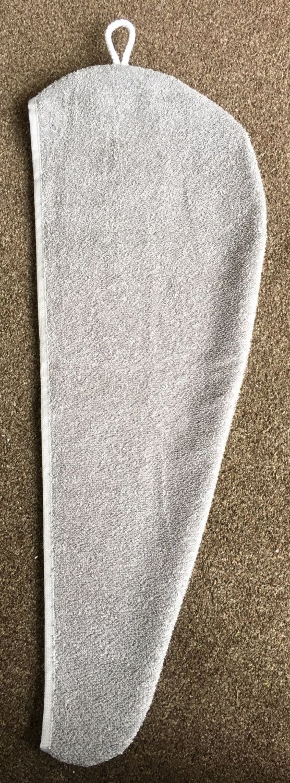 TURBIE TOWEL HAIR WRAP GREY