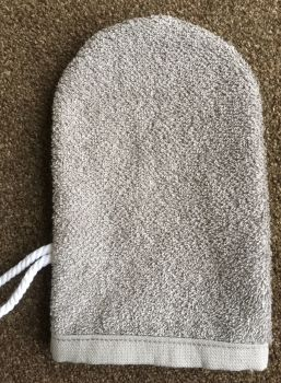 FACE & BODY WASH MITT GREY pack of 2