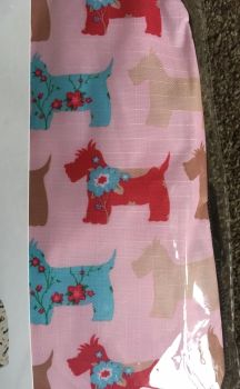 FLORAL SCOTTIE DOGS PINK CLOSE UP