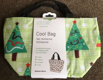 COOL BAG FLORAL CHRISTMAS TREE DESIGN - 4 Colours available