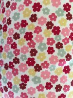 ipad beanbag pink & red ditsy close up