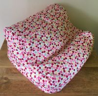 ipad beanbag pink & red ditsy empty side