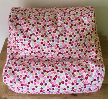 ipad beanbag pink & red ditsy empty