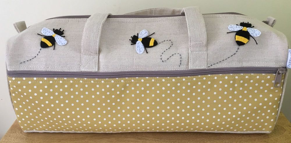 LONG KNITTING BAG 'BEE' DESIGN