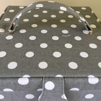 GREY SPOT 2 DRAWER TOP