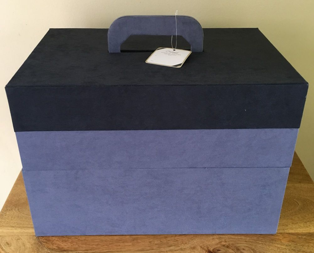 CRAFTERS TOOL BOX BLUE