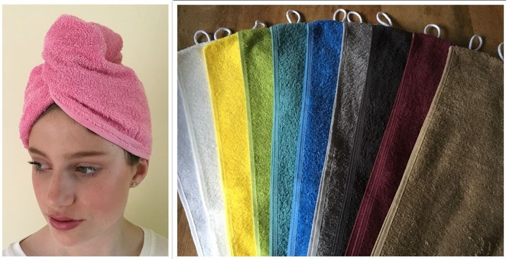 TURBIE TOWEL HAIR WRAPS & WASH MITTS