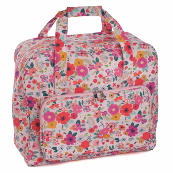 SEWING MACHINE CARRY BAG 'Floral Garden Pink' Design