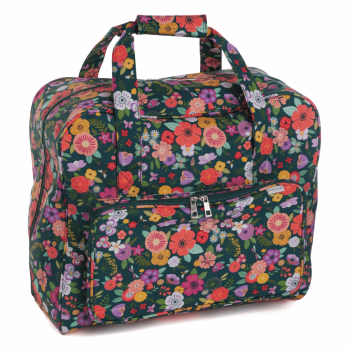 SEWING MACHINE CARRY BAG 'Floral Garden Green' Design